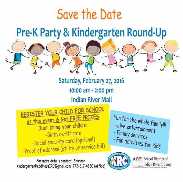 Save the Date! Pre-K Party & Kindergarten Round-Up!
